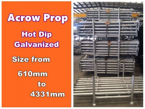Acrow Props Size 1 : Acrow prop size scaffold and formwork solution